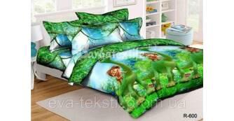 АКЦИЯ! - 10% на полуторное постельное белье Ранфорс с детскими рисунками