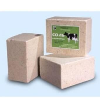 Сіль для тварин: брикетована кормова, без добавок