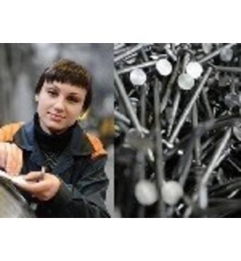 Работа на машинах по производству гвоздей