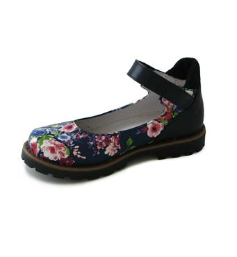 Туфли с цветочным принтом купить недорого для ребенка