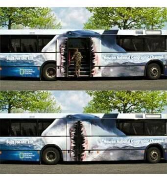 Реклама на автобусах заказать в Киеве