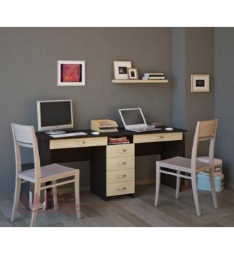 Письменный стол для двоих детей на заказ