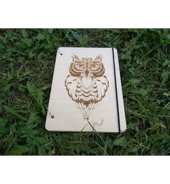 Блокнот с деревянной обложкой купить в Украине