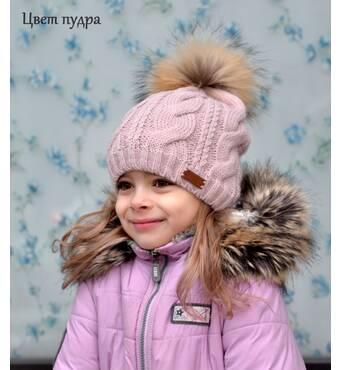 Реализуем вязаные шапочки для девочек