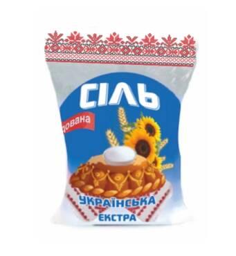 Соль экстра фасованная йодированная купить Тернополь