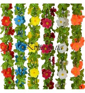 В продаже искусственные свисающие цветы