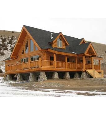 Красивые дома из бруса от компании Хата-Сруб