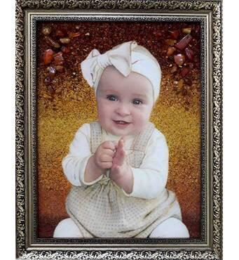 Портрет на замовлення з бурштину — найкращий подарунок до новорічних та різдвяних свят!