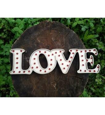 Буквы из фанеры на свадьбу со светодиодами