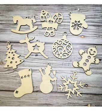 Дерев'яні іграшки на ялинку купити Україна