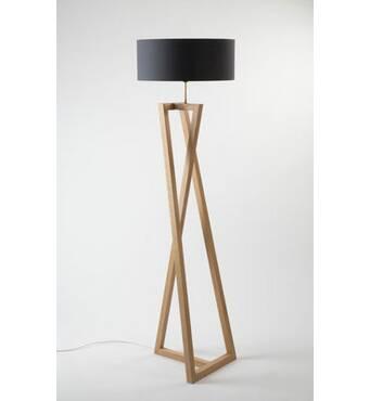 Стильний дерев'яний торшер купити