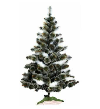 Пышная искусственная елка с имитацией инея