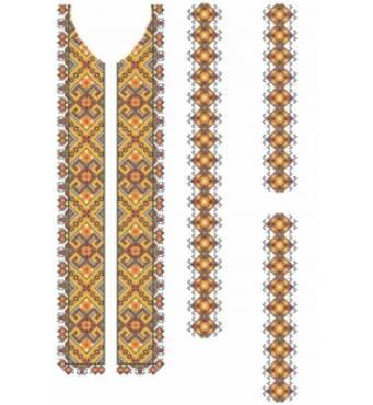 Вышивка бисером - схемы рубашки