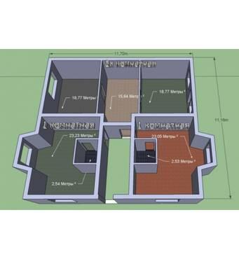 Построи Дом 3 этажа. 8 квартир. Монолитный. Утеплен. Отличная шумоизоляция.