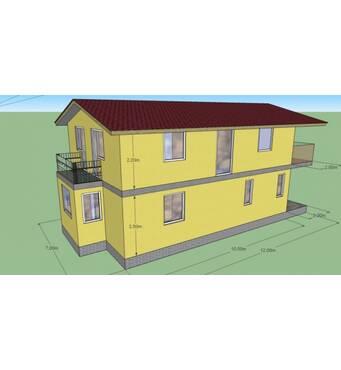 Построим дом 154 м.кв. С тамбуром, балконами. Возможна перепланировка.