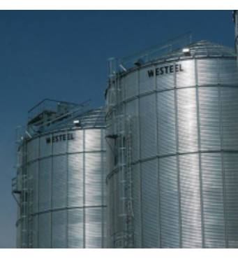 The silo with a flat bottom is the reasonable choice!