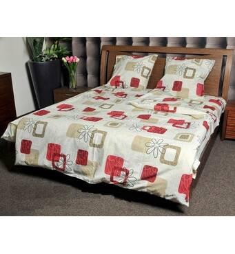 Купить постельное белье недорого, Комплект семейный «Цветочная геометрия»