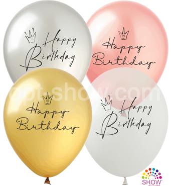 Повітряні кулі Happy Birthday корони