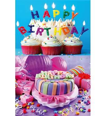 """Пакети для подарунків """"Happy Birthday"""" 16 х 27 см   (6 шт/уп)"""