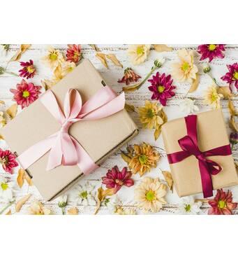 """Пакет для подарунка гігант горизонтальний """"Кантри"""" 47х30 см   (6 шт/уп)"""