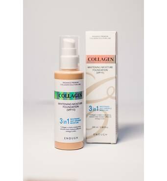 Тональний крем з колагеном Collagen 3 в 1 SPF 15