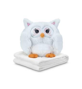 Плед-игрушка Эмоциональная Совушка Простачок Блаши Ку II Dormeo