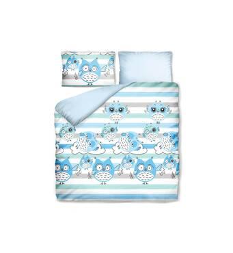 Комплект постільної білизни Емоційна Совушка Синій Dormeo  140х200 см