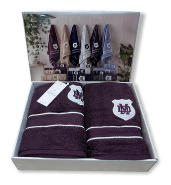 Набір рушників Maison D'or Alain Purple махрові 30-50 см, 50-100 см, 70-140 см фіолетовий