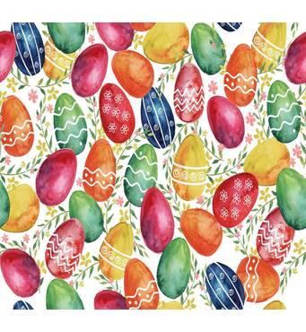 Декоративная ткань с раскрашенными пасхальными яйцами Испания 280см