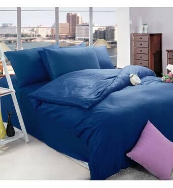Комплект постельного белья Сатин Премиум Синий