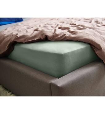 Натяжная простыня Essentials Dormeo Зеленый  160х200 см