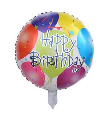 Воздушный фольгированный шар Happy Birthday зеркальный шарики (Китай)