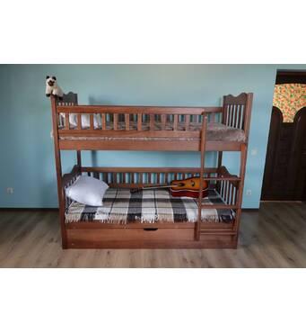 """Двоярусне ліжко """"Рукавичка"""" з підйомним механізмом"""