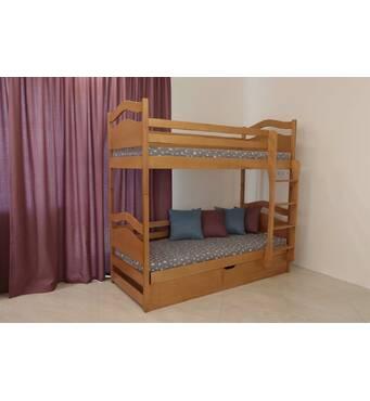 """Двоярусне ліжко """"Вінні Пух"""" з підйомним механізмом"""