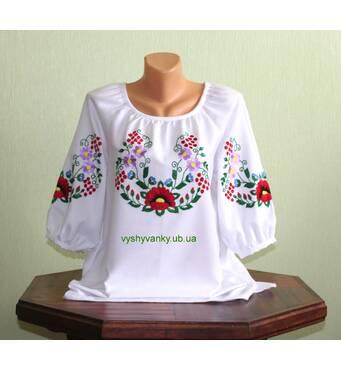 Сорочка жіноча вишита гладдю. ручна робота