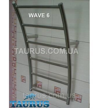 Дизайнерський полотенцесушитель Wave 6/500 мм Морська хвиля. Водяний. 1/2. Україна 400