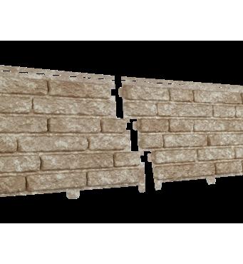 Фасадные панели Stone House Кварцыт, цвет: Светло-бежевый
