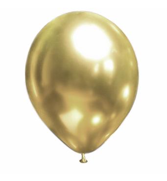 Повітряні кулі Brilliance золото (хром), 50 шт/уп Show