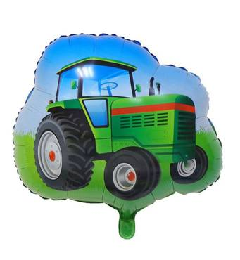 Фольгированный шар Зелёный трактор  65х64 см (Китай) в упаковке