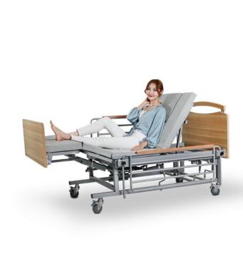 Медицинская кровать с туалетом Е08. Функциональная кровать. Кровать для инвалида. Современный дизайн.