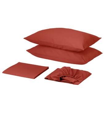 Комплект для круглой кровати с простынью на резинке Винный