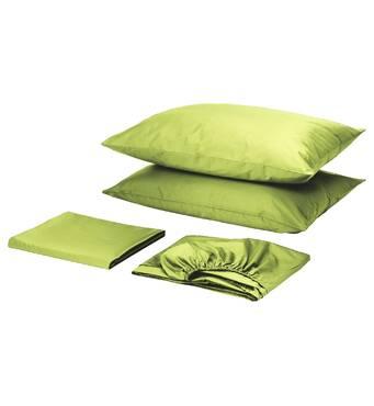 Комплект для круглой кровати с простынью на резинке Салатовый