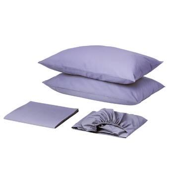 Комплект для круглой кровати с простынью на резинке Сиреневый