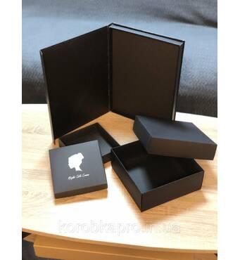 Черная картонная коробка под заказ