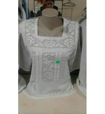Полтавська вишиванка білим по білому жіноча