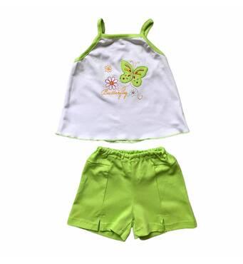 Комплект топ + шорты с вышивкой Интерпола для девочки