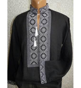 Чоловіча сорочка ручної роботи  чорна