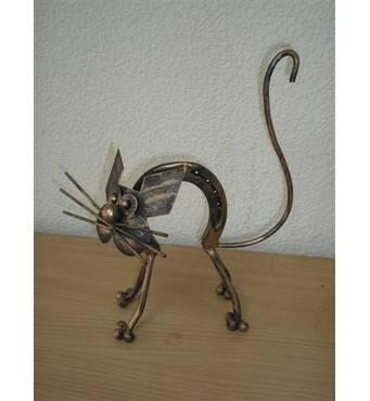 Кований декоративний кіт
