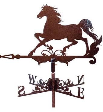 Флюгер на дах з конем