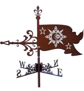 Флюгер на дах прапор